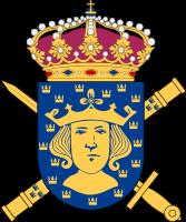 Överkommendanten i Stockholms heraldiska vapen.